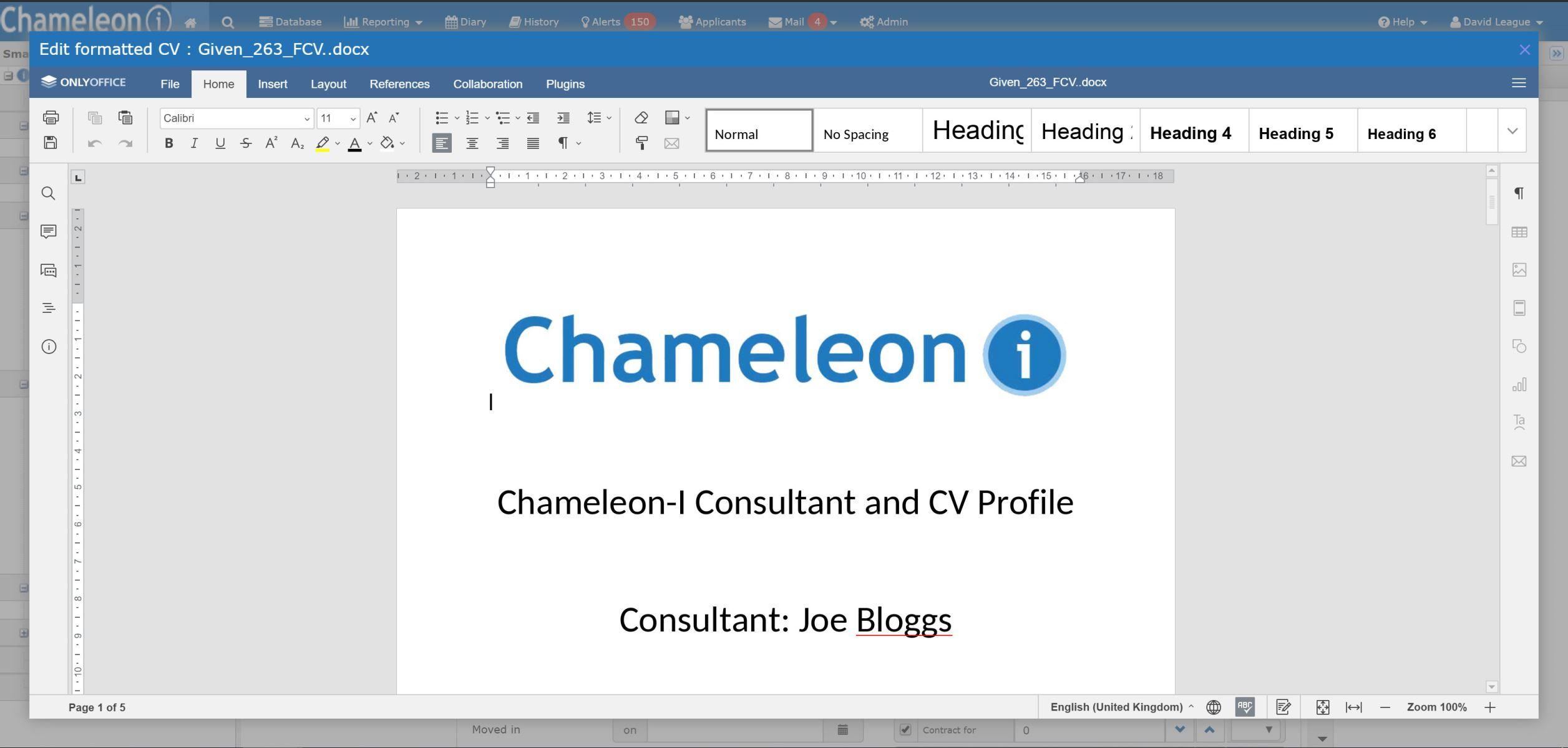 CV Editor Inline