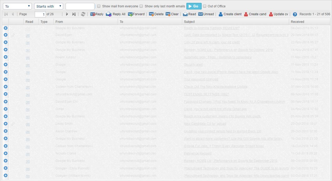 Inbox Grid