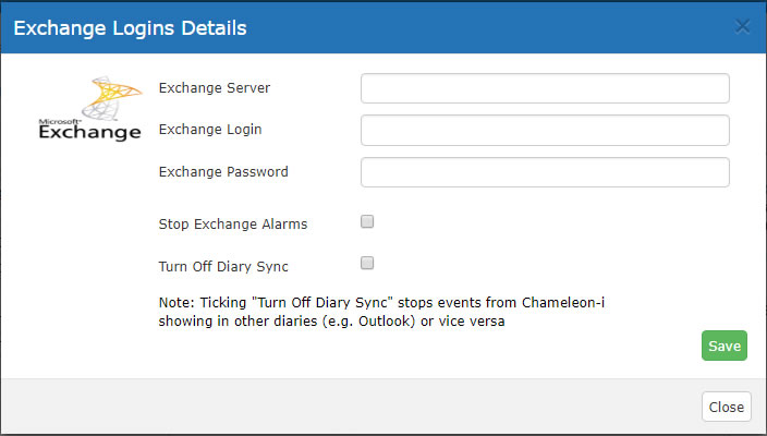 Exchange Details Pop-Up