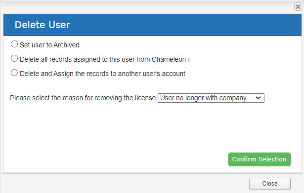Users Tab Delete User Account