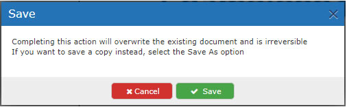 In-browser editor save