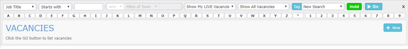 Vacancy Search Grid